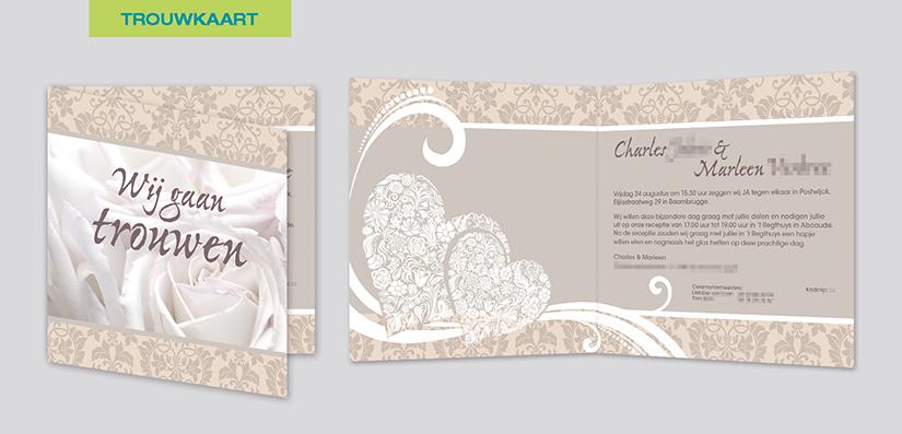 De trouwkaart van Charles en Marleen